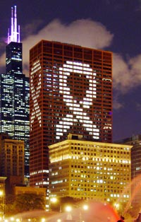 CNA Building with Breast Cancer Research Support display